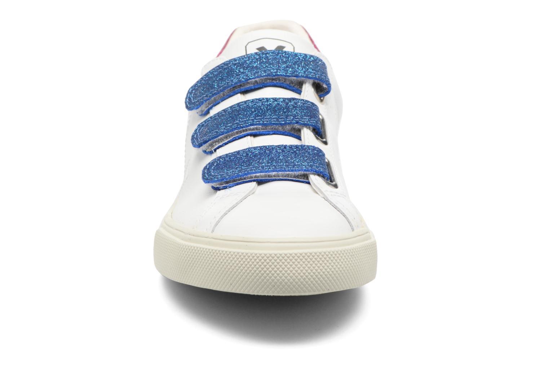 Baskets Veja 3 LOCK LEATHER Blanc vue portées chaussures