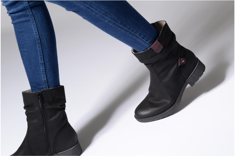 Bottines et boots Jana shoes Lino Marron vue bas / vue portée sac