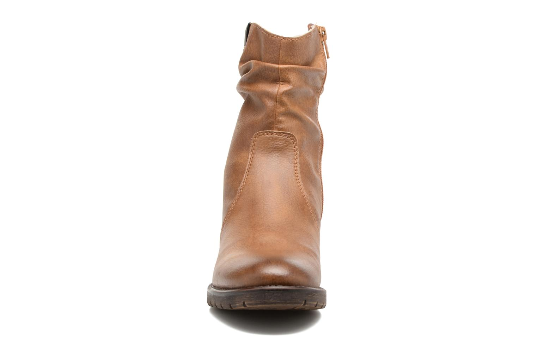 Bottines et boots Jana shoes Lino Marron vue portées chaussures