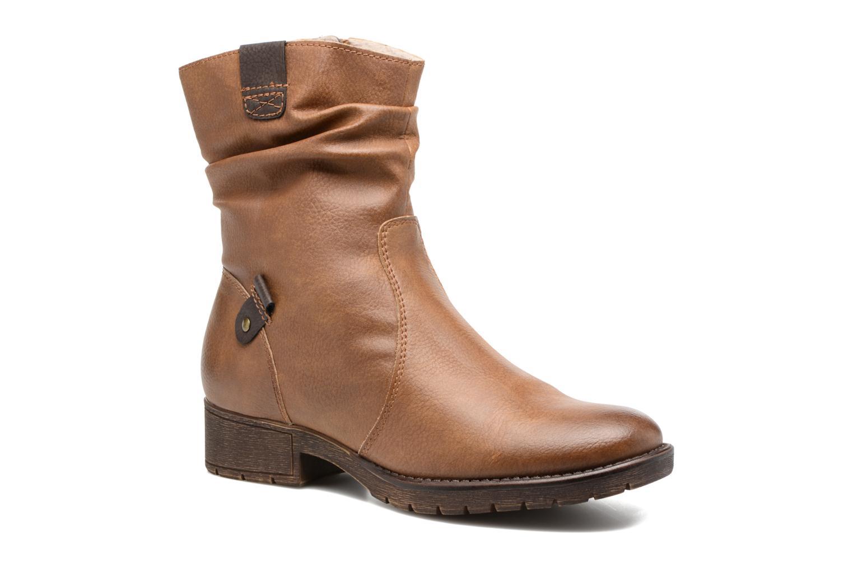 Bottines et boots Jana shoes Lino Marron vue détail/paire