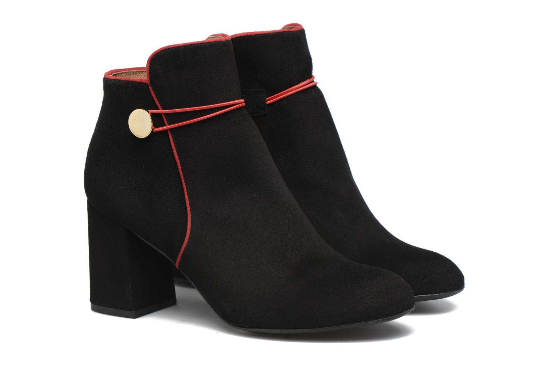 Boots Camp #7 Cuir velours noir