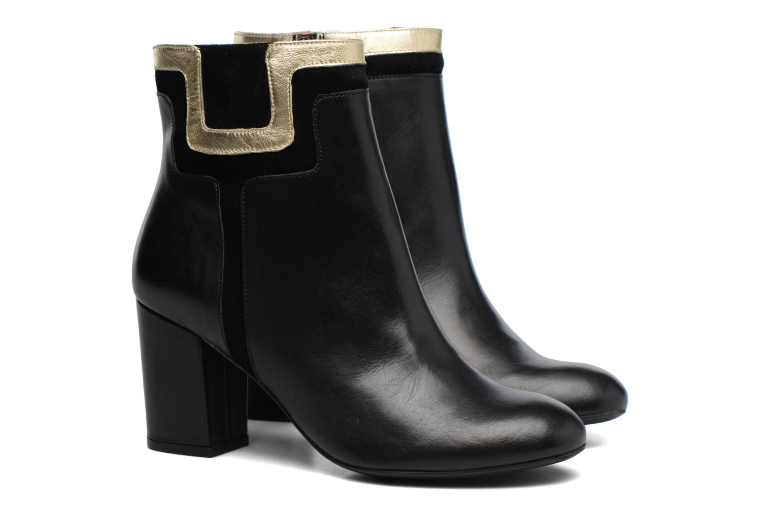 Ankle boots Made by SARENZA Boots Camp #10 Black back view
