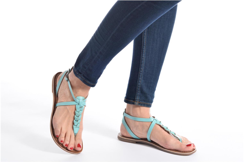 Sandales et nu-pieds Kickers Diabolo Noir vue bas / vue portée sac