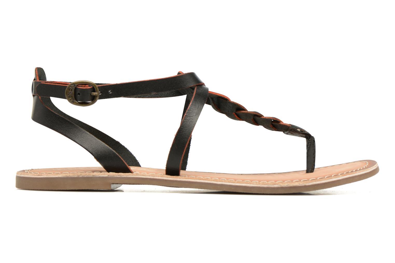 Sandales et nu-pieds Kickers Diabolo Noir vue derrière