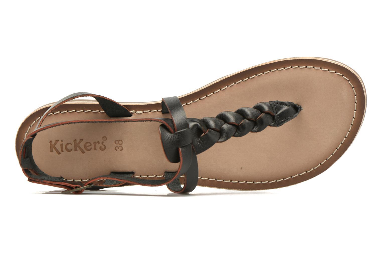 Sandales et nu-pieds Kickers Diabolo Noir vue gauche