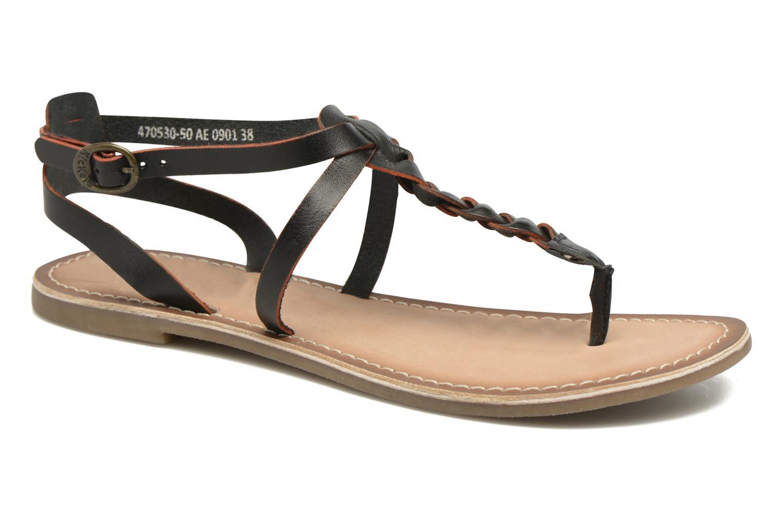 Sandales et nu-pieds Kickers Diabolo Noir vue détail/paire