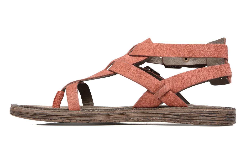 Sandales et nu-pieds Kickers Anselme Rouge vue face