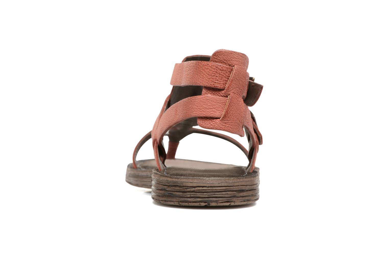 Sandales et nu-pieds Kickers Anselme Rouge vue droite