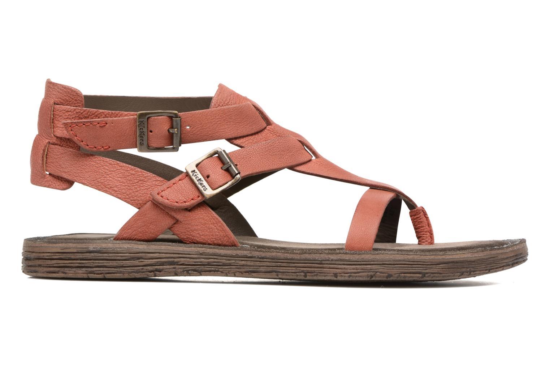 Sandales et nu-pieds Kickers Anselme Rouge vue derrière