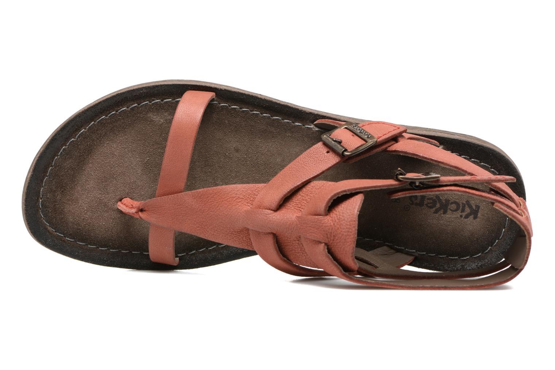 Sandales et nu-pieds Kickers Anselme Rouge vue gauche