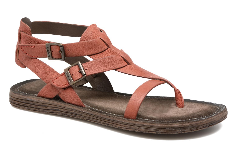 Sandales et nu-pieds Kickers Anselme Rouge vue détail/paire