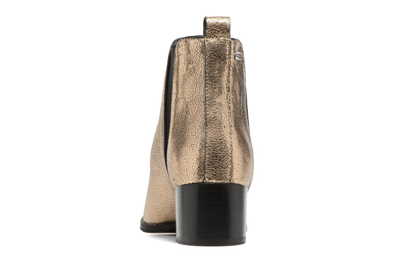 Botines  Pepe jeans WATERLOO NIGHT Oro y bronce vista lateral derecha