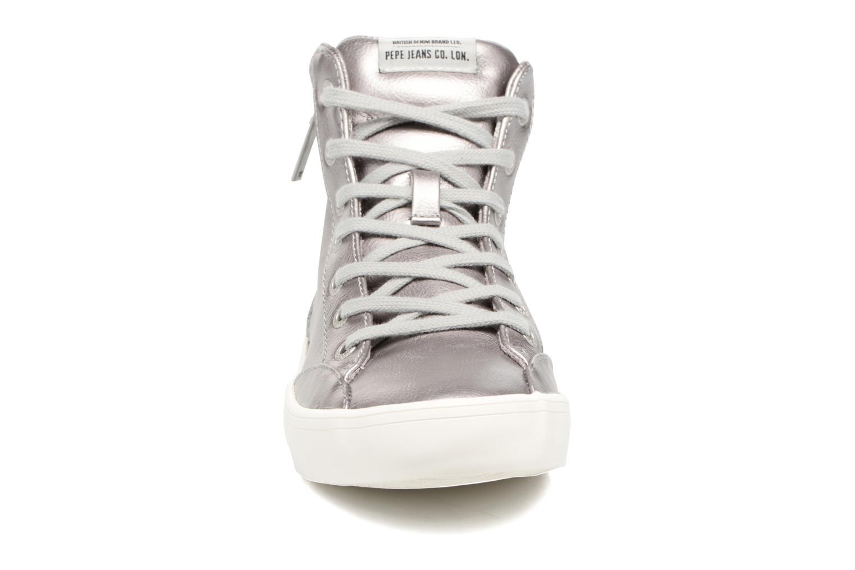 Baskets Pepe jeans CLINTON SUE Argent vue portées chaussures