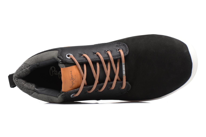 Baskets Pepe jeans JAYDEN CORDURA Noir vue gauche
