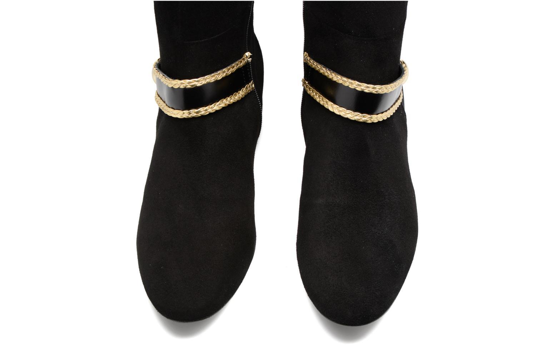 Boots Camp #5 Cuir velours noir