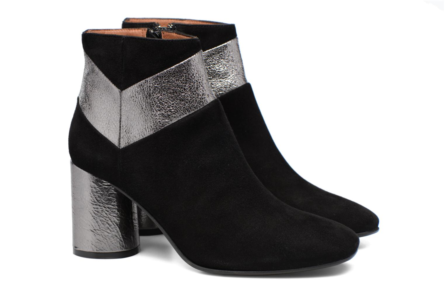 Ankle boots Made by SARENZA Winter Ski #8 Black back view