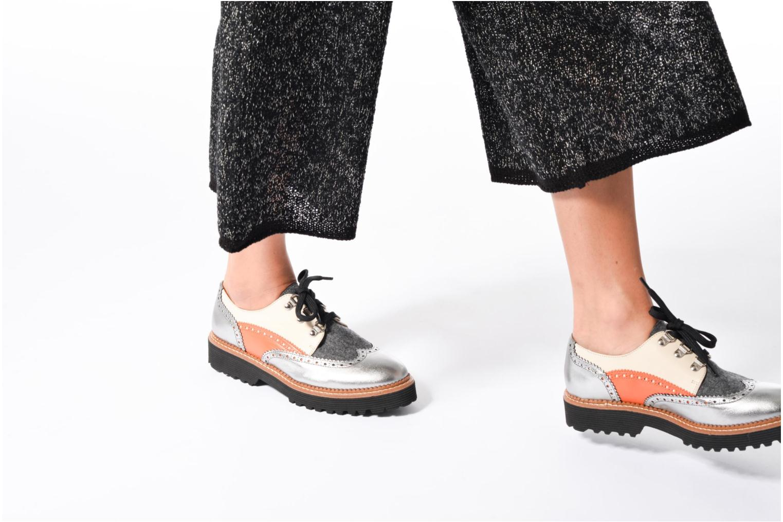 Chaussures à lacets Made by SARENZA Partygloo #6 Argent vue bas / vue portée sac