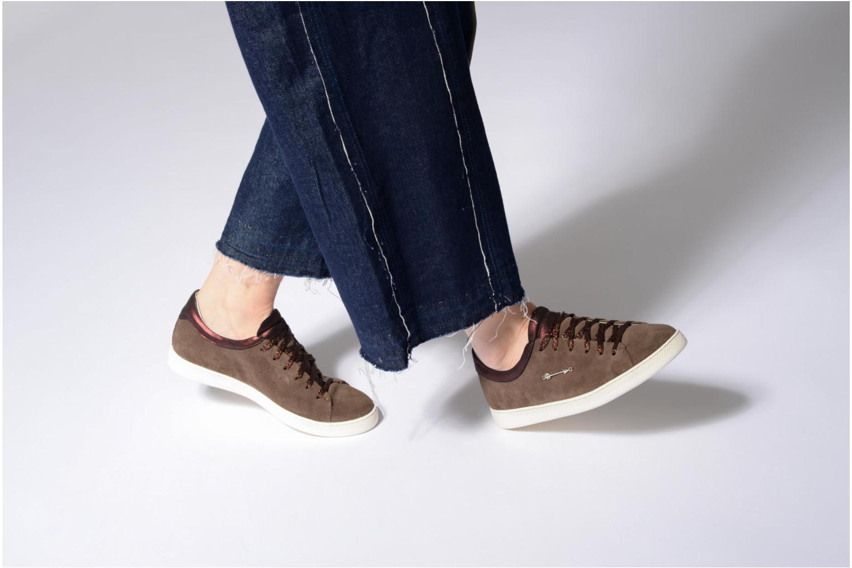 Azul/Bordeaux Schmoove Woman Sally sneaker Suede (Noir)