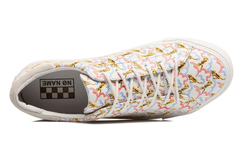 White Fox White No Name Arcade sneaker pink nappa print tiger (Blanc)