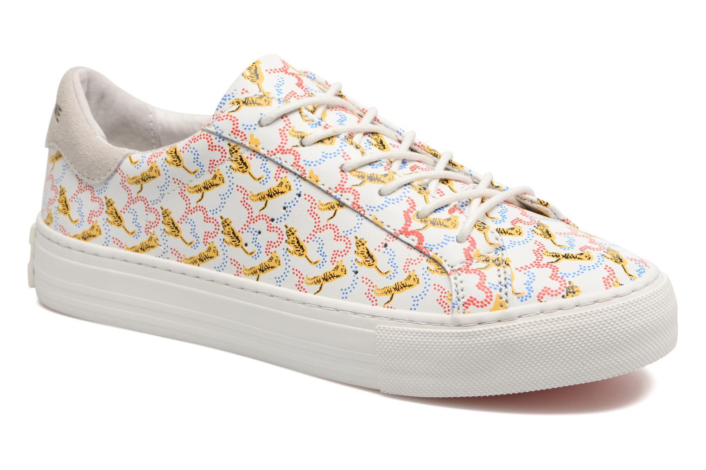 Arcade sneaker pink nappa print tiger White Fox White