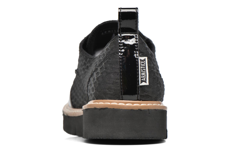 Chaussures à lacets Armistice Fox derby palace Noir vue droite