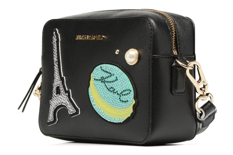 Sacs à main Karl Lagerfeld Paris Camera Bag Noir vue portées chaussures