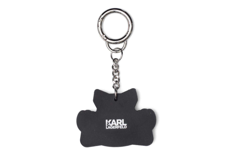 Petite Maroquinerie Karl Lagerfeld Team Karl Choupette Keychain Blanc vue portées chaussures