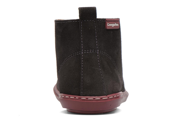 Chaussures à lacets Conguitos Lila Gris vue droite