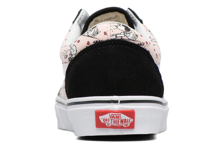 Baskets Vans Old Skool W x Peanuts Rose vue droite