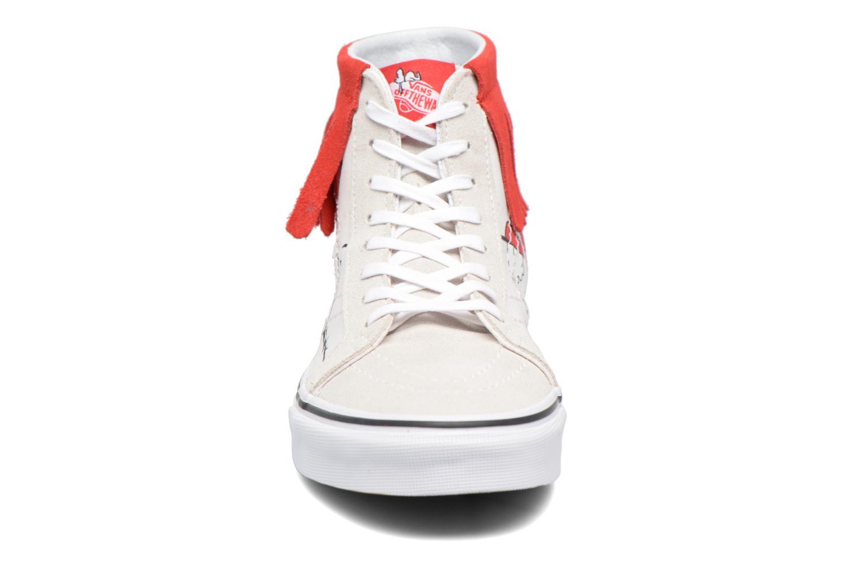 Baskets Vans SK8-Hi Moc x Peanuts Blanc vue portées chaussures