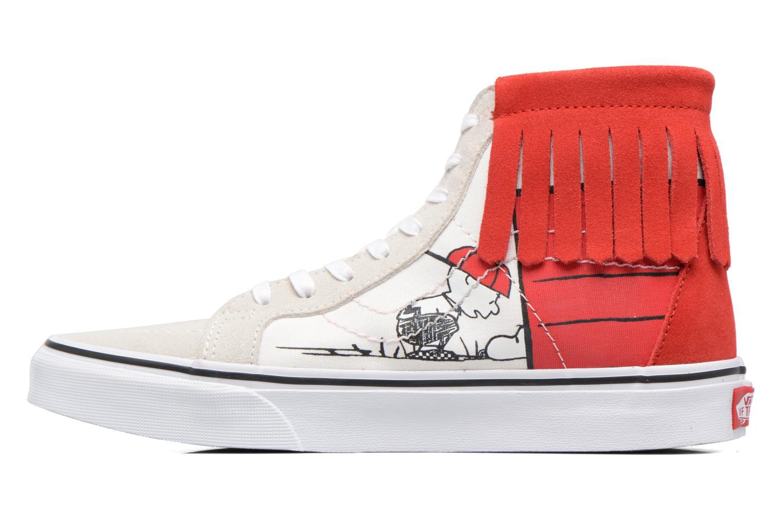 Baskets Vans SK8-Hi Moc x Peanuts Blanc vue face