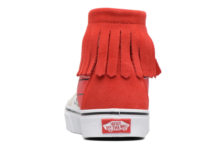 Baskets Vans SK8-Hi Moc x Peanuts Blanc vue droite