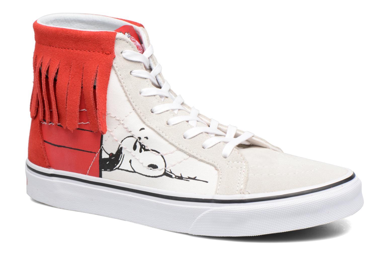 Baskets Vans SK8-Hi Moc x Peanuts Blanc vue détail/paire