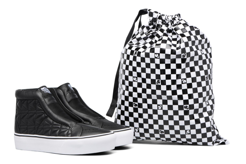 Baskets Vans Old Skool Laceless Platform x Karl Lagerfeld Noir vue 3/4