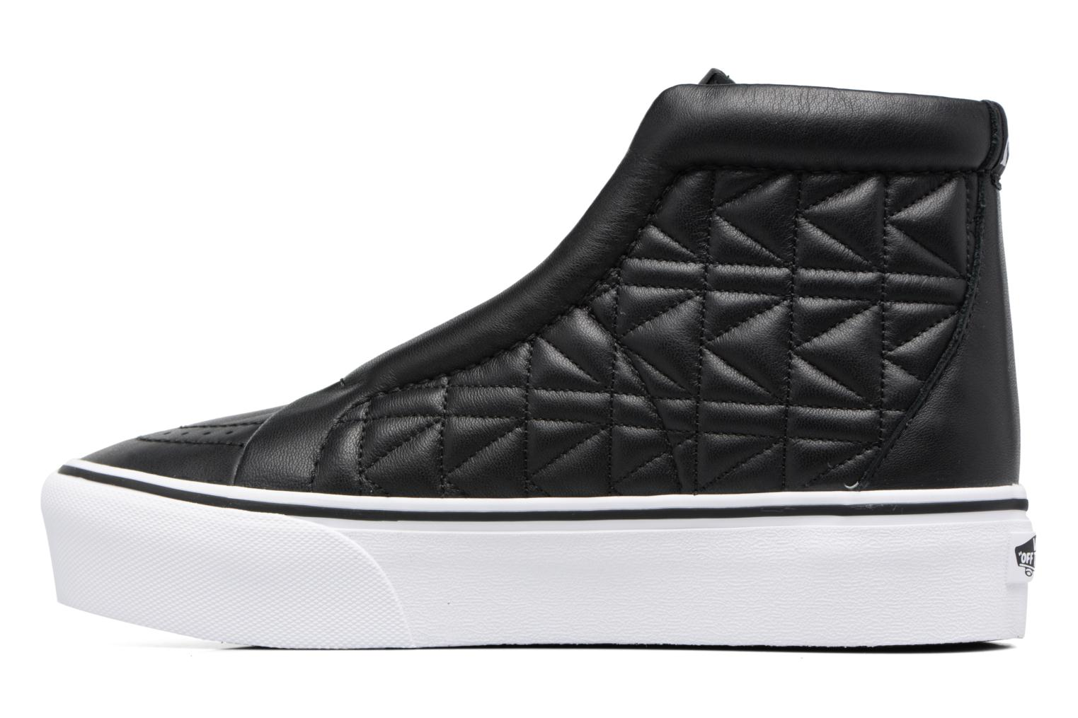 Baskets Vans Old Skool Laceless Platform x Karl Lagerfeld Noir vue face