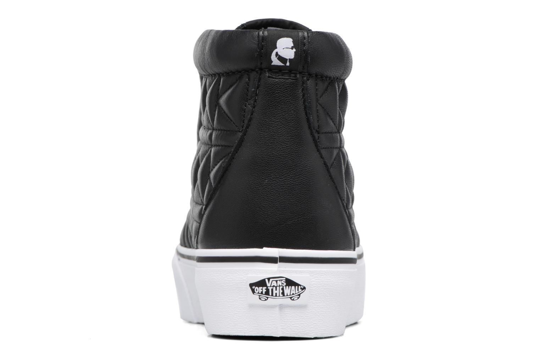 Baskets Vans Old Skool Laceless Platform x Karl Lagerfeld Noir vue droite