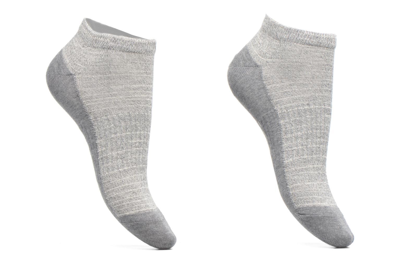 Chaussettes et collants Esprit Chaussettes Courtes Sport Melange Lot de 2 Gris vue détail/paire