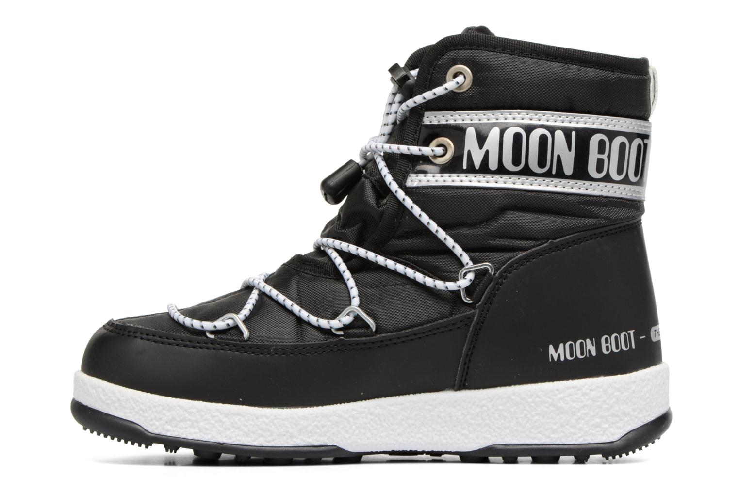 Sport shoes Moon Boot Moon Boot Mid Jr Wp Black front view