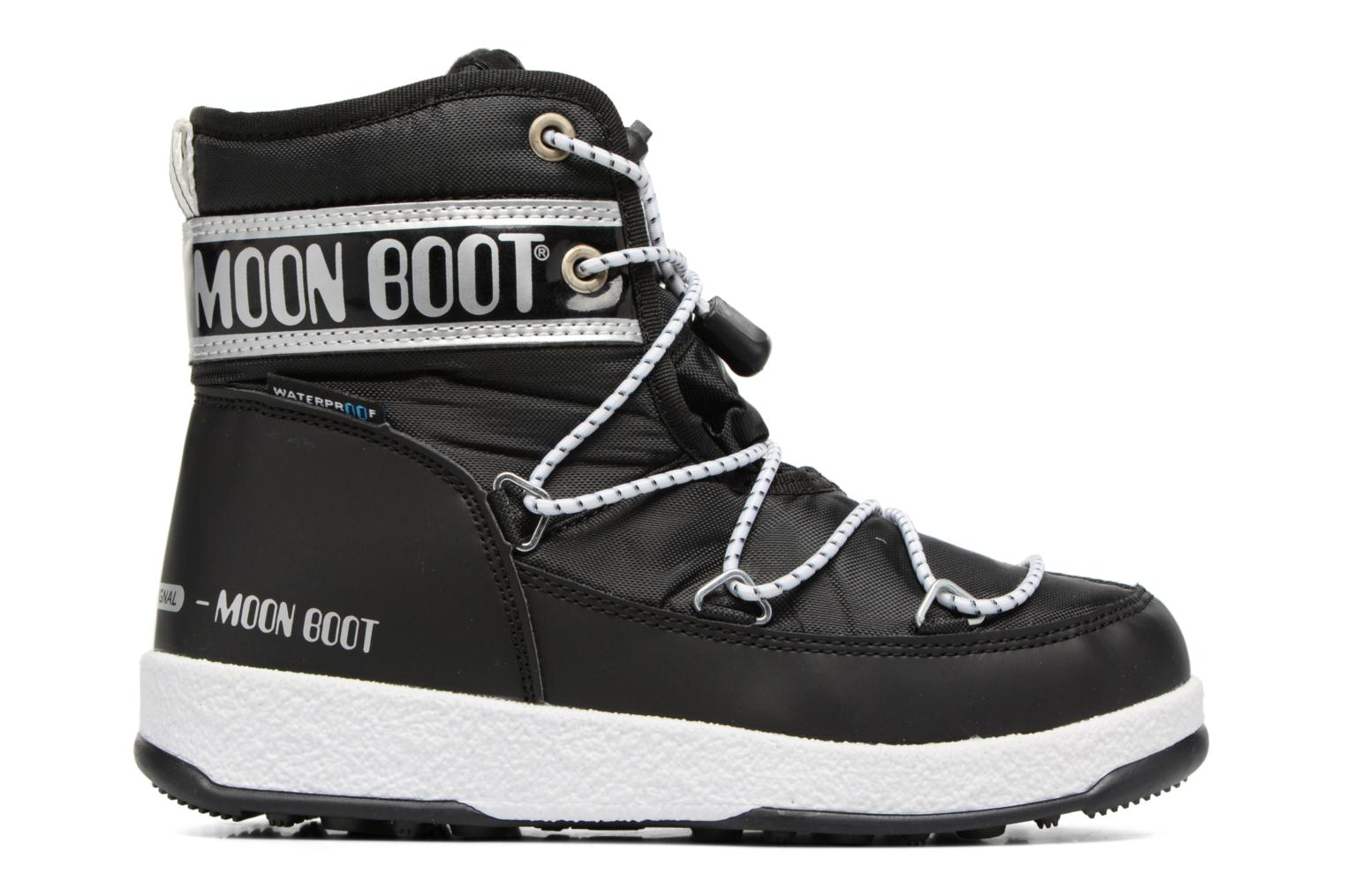 Sport shoes Moon Boot Moon Boot Mid Jr Wp Black back view
