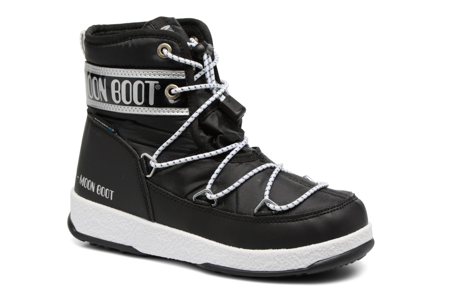 Sport shoes Moon Boot Moon Boot Mid Jr Wp Black detailed view/ Pair view