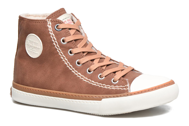 Baskets Pepe jeans Raider Marron vue détail/paire