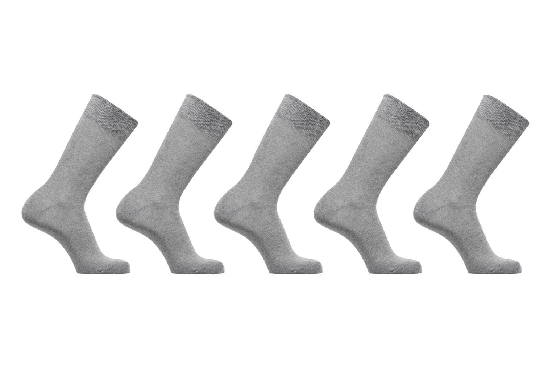 Chaussettes Unies Lot de 5 3390 light greymel