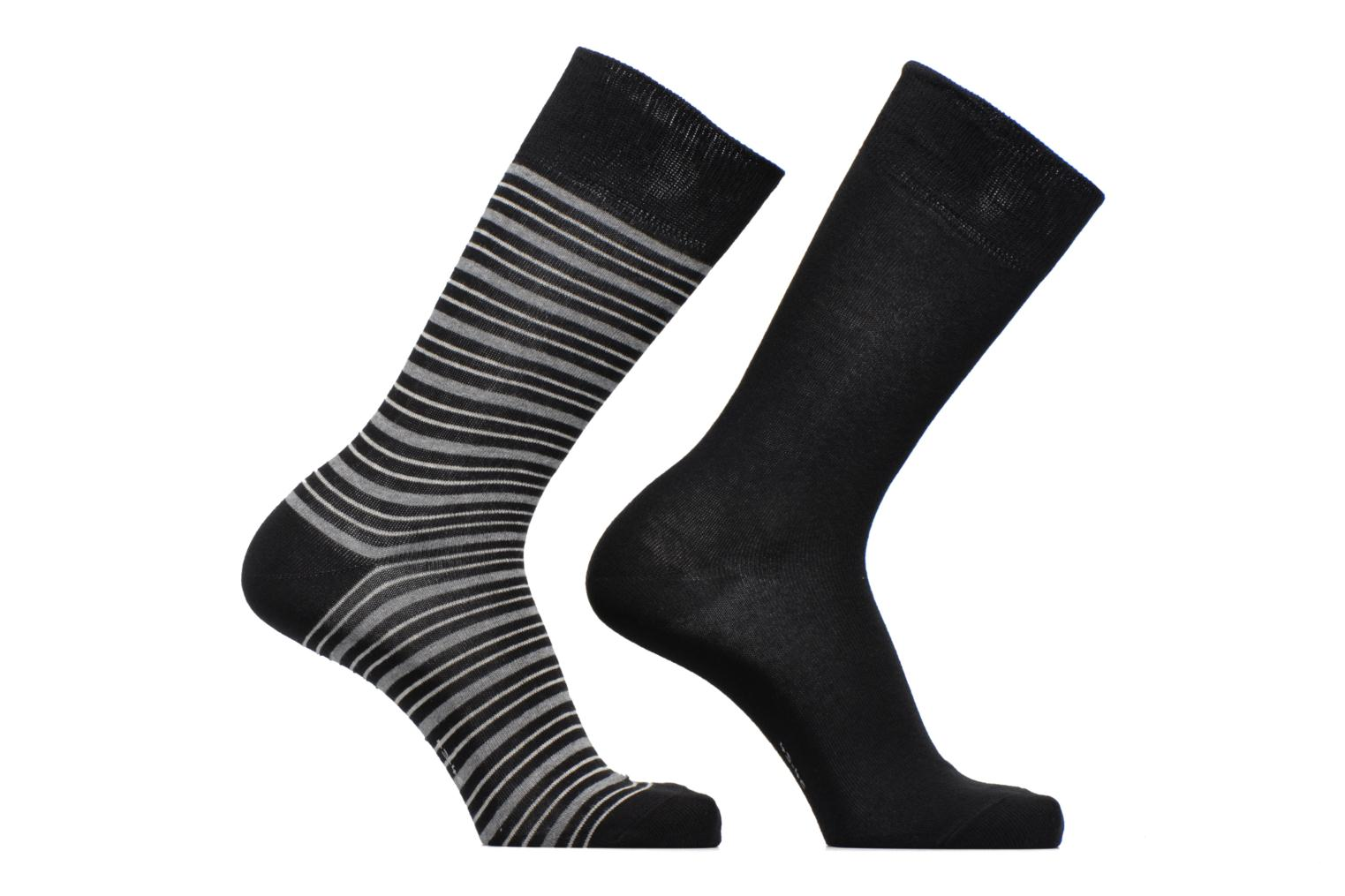 Chaussettes Coloured Sripes Lot de 2 3000 Black