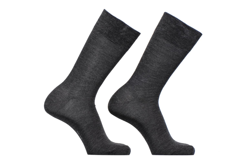 Chaussettes Basic Wool Lot de 2 3080 Anthra.mel