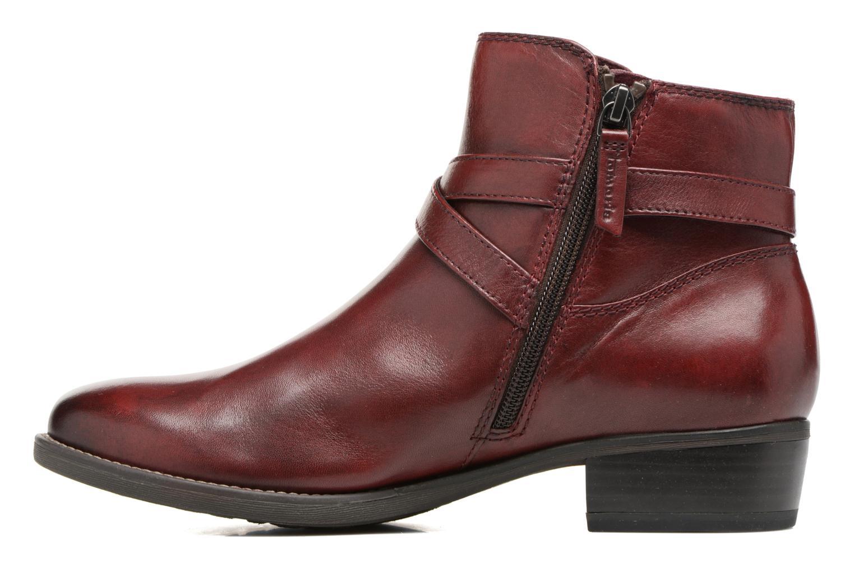 Bottines et boots Tamaris Elbereth Bordeaux vue face