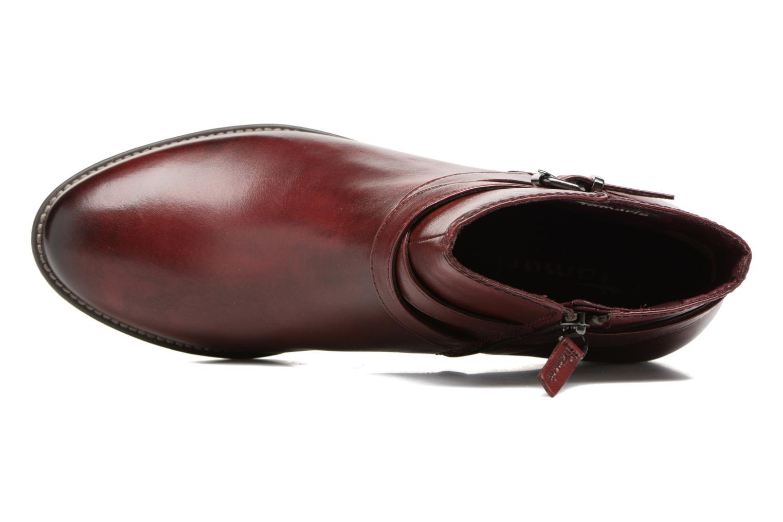 Bottines et boots Tamaris Elbereth Bordeaux vue gauche