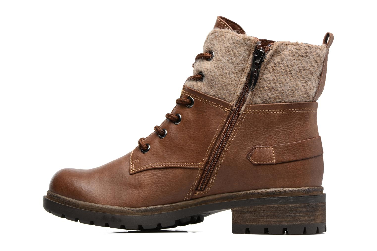 Ankle boots Tamaris Elessar Brown front view