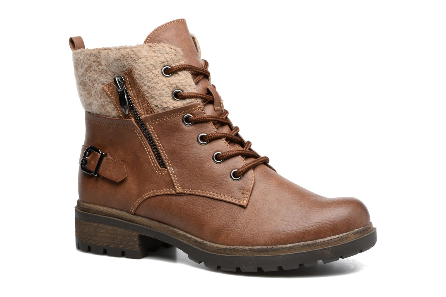 Ankle boots Tamaris Elessar Brown detailed view/ Pair view