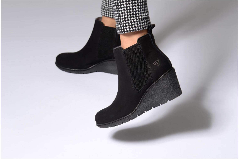 Bottines et boots Tamaris Elras Noir vue bas / vue portée sac