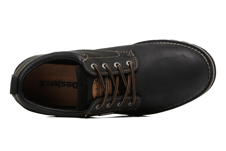 Chaussures à lacets Dockers Rolf Noir vue gauche